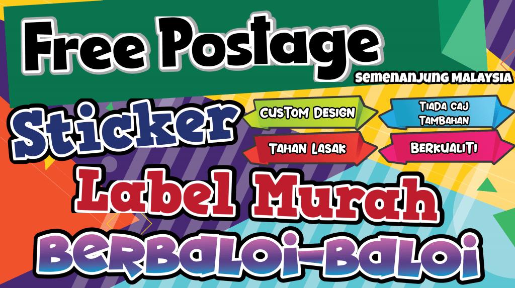 Sticker Murah - Banner
